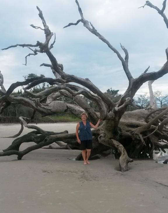 Standing on Driftwood Beach