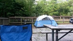 My last night of campsite