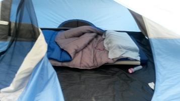 All snuggled in