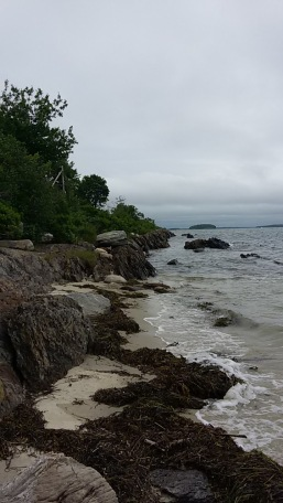 One of the small beaches that was walkable