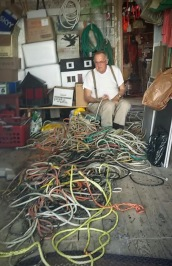 Untangling Lobster trap ropes